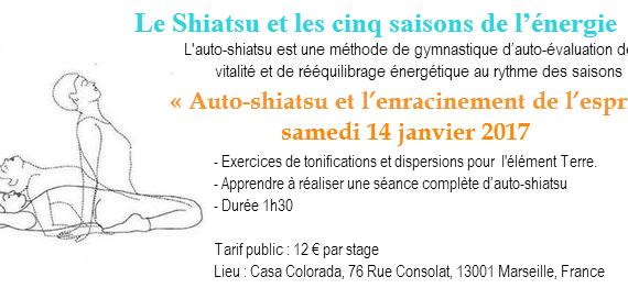 Atelier d'auto-shiatsu, janvier 2017. Marseille