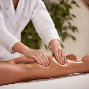 Massage décongestionnant des jambes