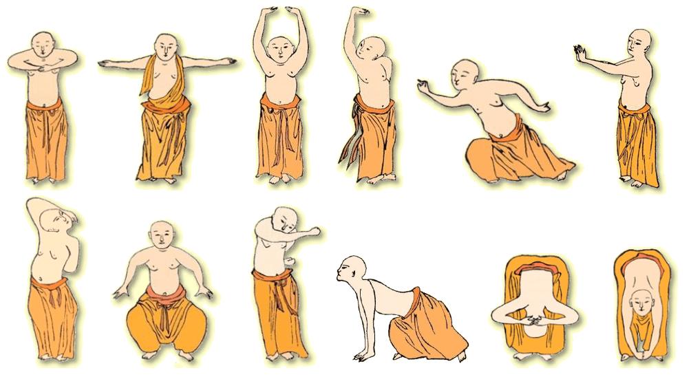 12 mouvemetns ,Yi jin jing, Qi gong,